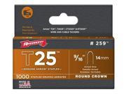 Arrow Fastener 259 T25 9 16 Inch 14mm Staples 1000 Pk
