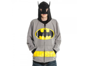 Dc Comics Batman Mens Gray Costume Hoody