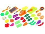 Fun Produce Supermarket Toy Food Playset w/ Assorted Toy Fruits, Vegetables, Hand Tools