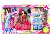 Kimo Fashion House Children's Kid's Toy Fashion Doll Playset w/ Doll, Furniture, Assorted Dresses, Accessories