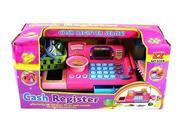 KX Ultimate Supermarket Pretend Play Battery Operated Toy Cash Register w/ Working Scanning Action & Real Calculator, Mock Scale, Money, Credit Card, Groceries