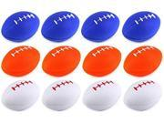"Set of 12 3.5"" Squeeze Foam Assorted Toy American Foot Ball, Perfect for Stress Relieving, Add On for Sports Playset (Colors May Vary)"