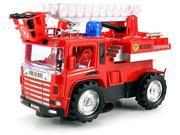 Mini Pumper Fire Rescue Battery Operated Bump and Go Toy Truck w/ Flashing Lights, Sounds