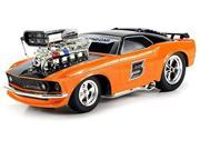 Super 5 Ford Mustang Boss 429 RC Remote Control Muscle Car 1:16 Scale Ready to Run w/ Working Head & Tail Lights (Colors May Vary)