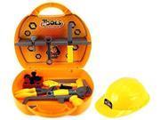 GT Junior Builder Children's Kid's Pretend Play Toy Work Shop Tool Set w/ Hard Hat, Tools, Accessories