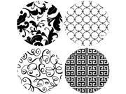 Black/White Round Occasions Drink Coasters (Set of 4) 9SIV16A66W9034