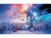 Star Wars Saga Chair Rail Prepasted Mural 6' x 10.5'