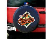 Baltimore Orioles Mlb Spare Tire Cover (black)