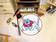 """27"""" diameter Fresno State Baseball Mat"""