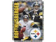 """Ben Roethlisberger #7 Pittsburgh Steelers NFL Woven Tapestry Throw Blanket (48x60"""""""")"""""""""""" 9SIA17P37H7804"""