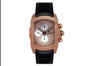 Aqua Master Men's Medium Rectangular Bubble Loop Full Case Diamond Watch with Full Diamond Dial, 7.00 ctw