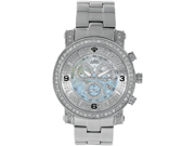 Aqua Master Men's Diamond Power Watch with One Row Diamond Bezel, 3.60 ctw