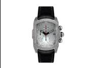 Aqua Master Men's Diamond-Cut Rectangular Bubble Loop Diamond Watch