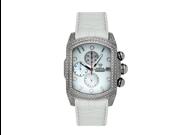 Aqua Master Men's Medium Rectangular Bubble Loop Full Case Diamond Watch, 2.50 ctw