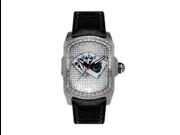 Aqua Master Men's Diamond-Cut Rectangular Bubble Loop Diamond Watch with Poker Royal Flush Dial