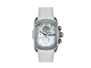 Aqua Master Men's Medium Rectangular Bubble Loop Two Row Diamond Watch, 1.25 ctw