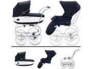 Inglesina SYSTM11VER Classica Pram and Seat with Raincover - Navy White