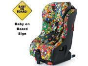 Clek foonf Convertible Car Seat w Baby on Board Sign  - tokidoki all over