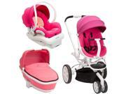 Quinny Moodd Stroller Travel System and Tukk Bassinet in Pink Passion