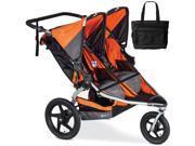 BOB - Revolution FLEX Duallie Double Stroller with Bag - Orange Silver