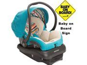 Maxi-Cosi - Mico AP Infant Car Seat  w  Baby on Board Sign - Bohemian Blue