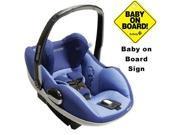 Maxi-Cosi IC090BIV Prezi Infant Car Seat w Baby on Board Sign - Reliant Blue