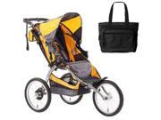 BOB ST1006  Ironman Single Stroller with Diaper Bag - Yellow