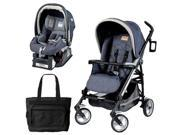 Peg Perego Pliko Four Travel System with a Diaper Bag - Denim