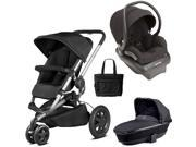 Quinny - Buzz Xtra Travel System with Bassinet and Bag - Black