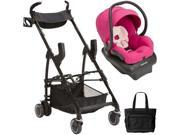 Maxi-Cosi - Mico AP Infant Car Seat with Maxi Taxi Car Seat Carrier and Bag - Bright Rose