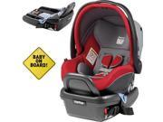 Peg Perego - Primo Viaggio 4-35 Car Seat w  Extra Base and Baby on Board Sign  - Tulip