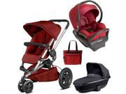 Quinny - Buzz Xtra MAX Travel System with Bassinet and Bag - Red Rumor