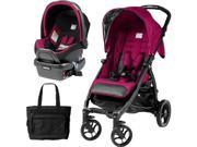 Peg Perego - Booklet Stroller Travel System with Diaper Bag - Fleur