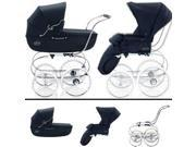Inglesina SYSTM11MAR Classica Pram and Seat with Raincover - Navy