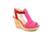 Enzo Angiolini Gesso Women US 10.5 Pink Wedge Sandal