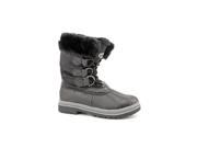 Khombu Birch Womens Size 6 Black Weatherproof Winter Boots