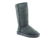 Bearpaw Emma Tall Womens Size 8 Gray Suede Winter Boots UK 6