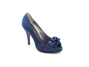 Nina Evelixa Women US 5.5 Blue Peep Toe Heels