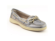 Sperry Top Sider Angelfish Womens Size 7.5 Silver Boat Leather Boat Shoes