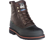 "GEORGIA G6633 6"" ST WP MudDog Brown Boots Shoes SZ 14"