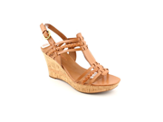 Franco Sarto Cerise Womens Size 10 Brown Open Toe Wedge Sandals Shoes
