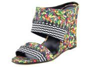 Nicole Miller Orlando Women US 7.5 Multi Color Wedge Sandal