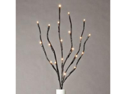"Gerson 36865 - 20"" Brown Wrapped Battery Operated LED Lighted Branch (20 Warm White Lights)"