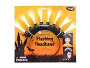 """Gerson 39958B - 12"""" Black Battery Operated Flashing LED Mohawk Headband (Batteries Included) for Halloween"""