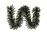 Vickerman 432839 - 9' Black Fir  with 100 Clear Lights Christmas Garland (K161815)