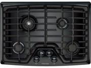 "30"" Gas Cooktop with 4 Sealed Burners, Min-2-Max Burner, Continuous Grates and ADA Compliant: Black"