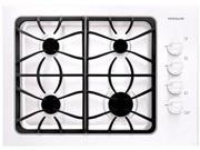 """30"""" Gas Cooktop with 4 Sealed Burners, Cast Iron Grates, Low Simmer Burner and Ready-Select Controls: White"""