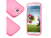 Pink Glossy Matte TPU Gel Soft Transparent Case Back Cover Skin for Samsung i9500 Galaxy S4