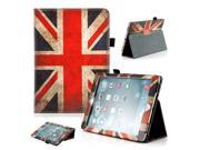 Gearonic ™ Magnetic PU Leather Folio Case Cover with Side Flip Stand Stylus Holder for Apple iPad Air - Flag of England