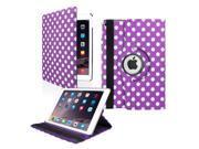 GEARONIC TM 2014 Apple iPad Air 2 360 Degree Rotating Stand Smart Cover PU Leather Swivel Case Purple Polkadot